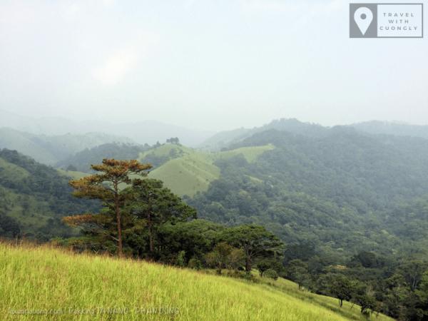 Những ngọn đồi trên con đường trek Tà Năng Phan Dũng.