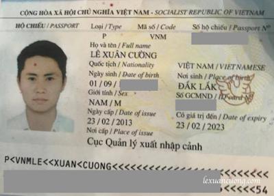 Ảnh chụp Hộ chiếu còn hạn sử dụng để xin Giấy phép lái xe Quốc tế