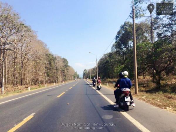 Du lịch Nam Cát Tiên, Bàu Sấu bằng xe máy