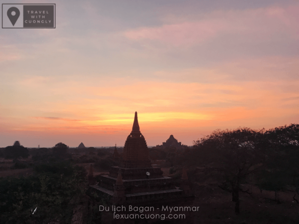Bình minh tuyệt đẹp ở Bagan, Myanmar