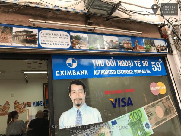 Đổi tiền khi đi du lịch