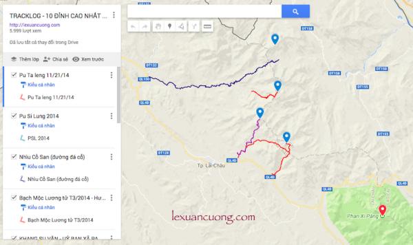 Tracklog chinh phục các 10 đỉnh núi cao nhất Việt Nam
