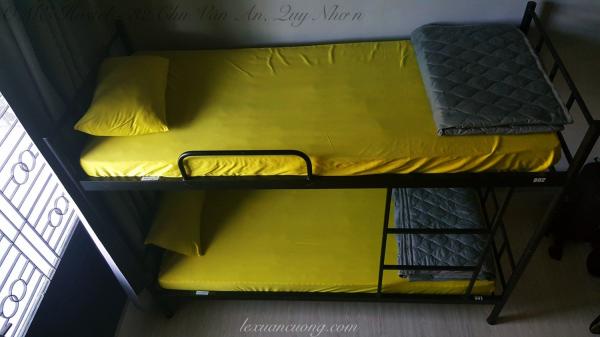Giường ngủ dorm tại OME Hostel - 32 Chu Văn An, Quy Nhơn