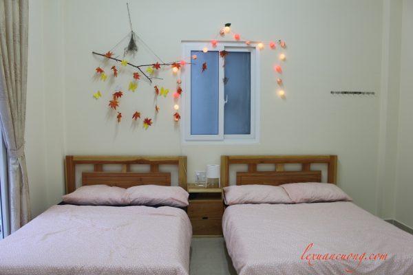 2 giường chính của Phòng studio - 4 quarters dalat homestay