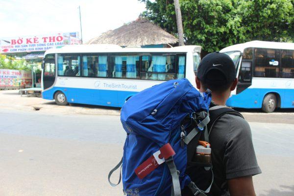 Xe bus the Sinh tourist