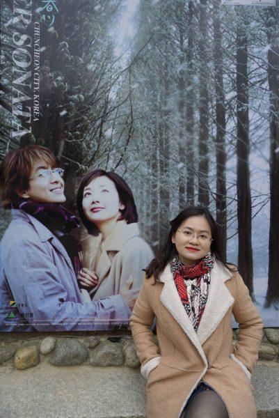 Hình ảnh 2 diễn viên chính của bộ phim Bản Tình Ca Mùa Đông