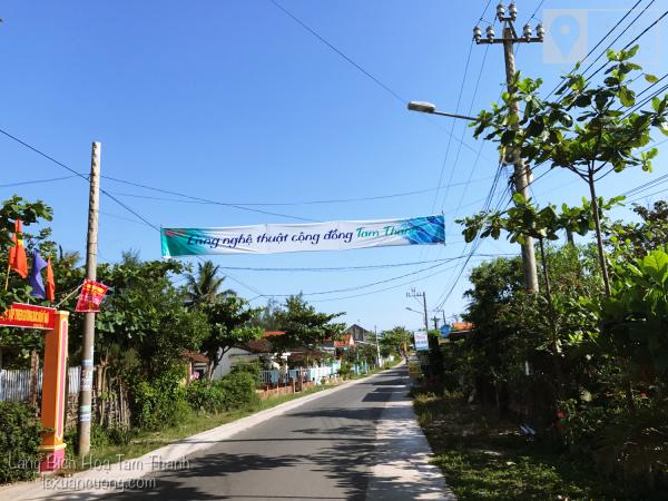 Con đường vào làng Bích Hoạ Tam Thanh