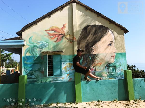 Tranh tường độc đáo ở làng Bích Hoạ Tam Thanh