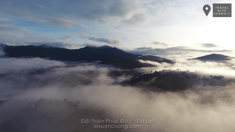 May mắn sẽ gặp biển mây trên đồi Thiên Phúc Đức, Đà Lạt.