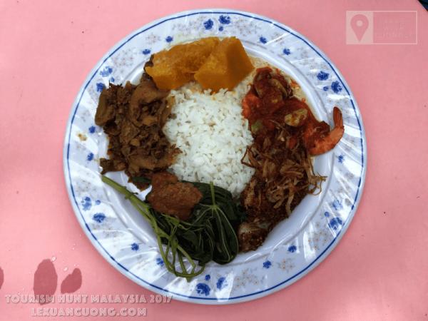 Một dĩa đồ ăn thông thường của Malaysia