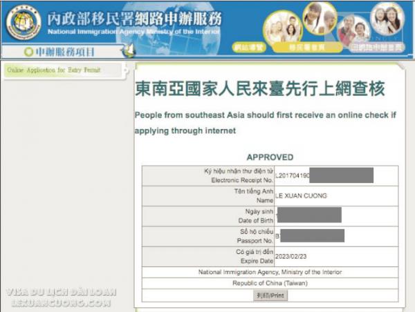 Hướng dẫn xin VISA DU LỊCH ĐÀI LOAN Online 04 lexuancuong.com  1 600x452 - Hướng dẫn xin VISA du lịch Đài Loan online (giấy phép nhập cảnh) trong 15 phút