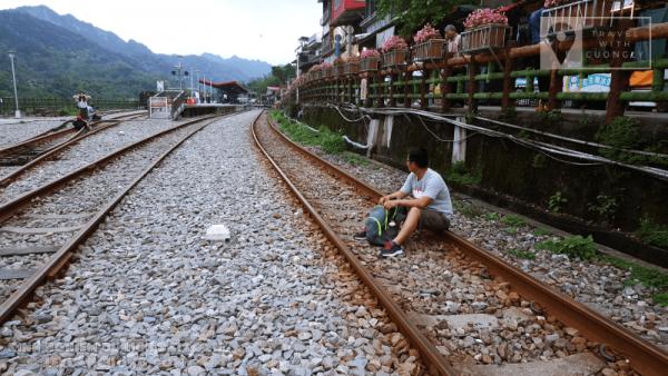 Đường tàu du lịch ở phố cổ Thập Phần, Đài Loan