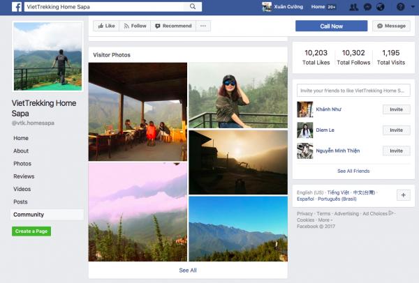 Xem hình ảnh người dùng up lên Fanpage/Google địa điểm của khách sạn/hostel