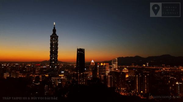 Du lịch Đài Loan Tháp Taipei 101 Núi Voi lexuancuong.com 9 600x337 - Tổng quan du lịch Đài Loan - Lịch trình và Kinh nghiệm du lịch bụi Đài Loan 6 ngày