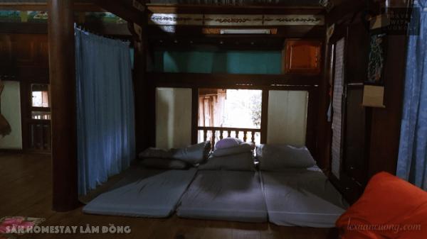 Góc nghỉ ngơi cho khách đến Sàn homestay.