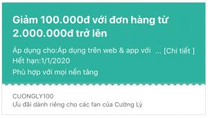 Giảm 100.000đ trên Klook với mã CUONGLY100