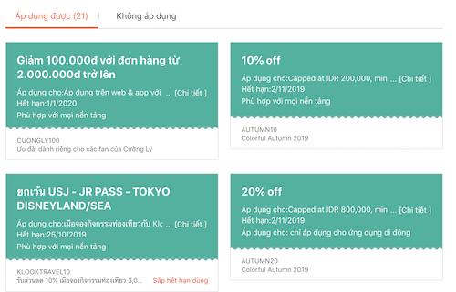 cach su dung ma giam gia Klook 1 - Mã giảm giá KLOOK hấp dẫn nhất: cập nhật ưu đãi khi mua vé, đặt tour du lịch qua KLOOK Content