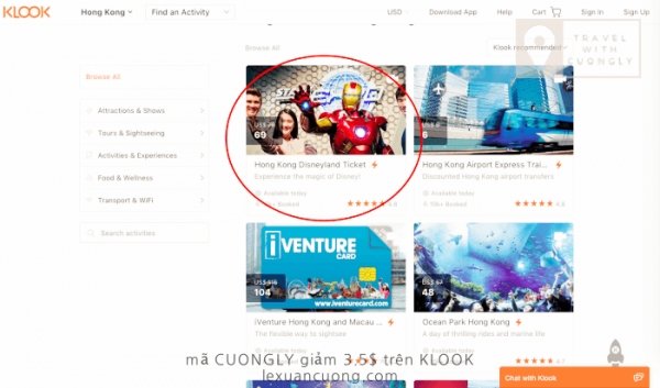 Đặt vé tham quan khi du lịch HONGKONG, mã CUONGLY giảm giá 3,5$ trên KLOOK