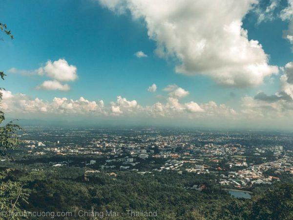 Thành phố Chiang Mai nhìn từ trên cao.