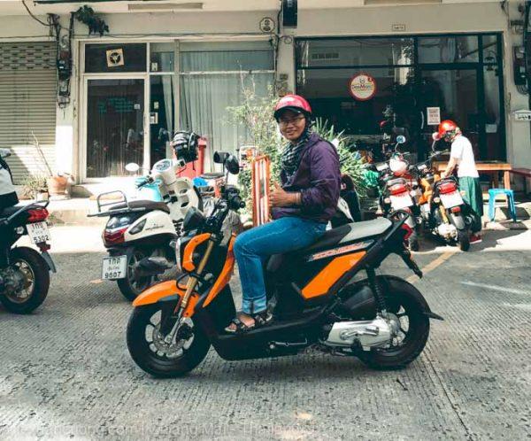 Thuê xe máy để du hí Chiang Mai - Thái Lan.