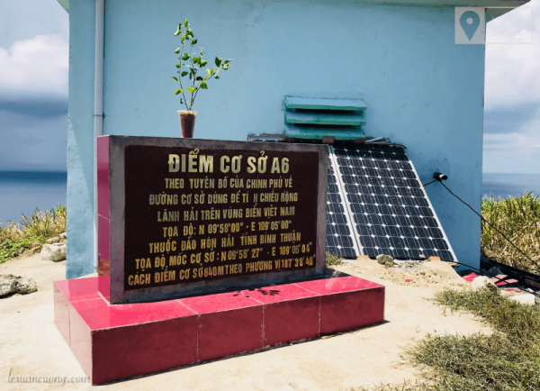 Điểm cơ sở A6 trên Hòn Hải. Nơi xác định đường lãnh hải Việt Nam.