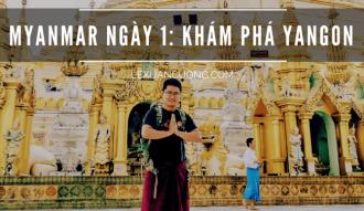 CHÀO MYANMAR: ĐI CHỢ BOGYOKE UỐNG TRÀ SỮA, MUA LONGYI & THANAKHA
