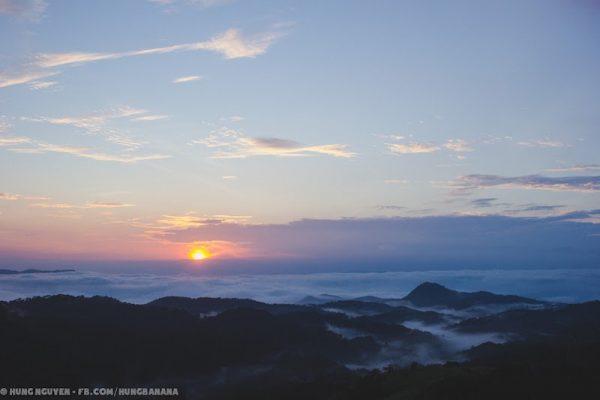 Bình minh Tà Năng - nếu bạn may mắn sẽ có cơ hội gặp biển mây thế này.