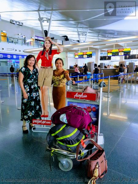 Quầy thủ tục của Vietjet Air ở sân bay quốc tế Phuket