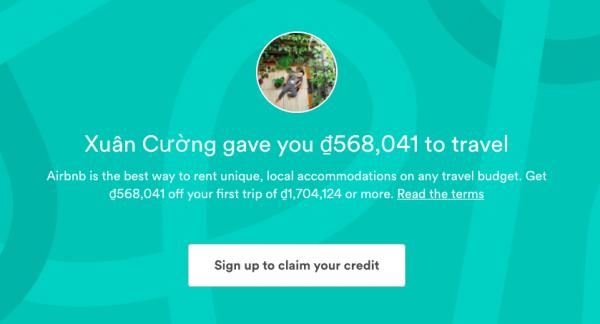 Miễn phí 25$ khi book phòng qua Airbnb