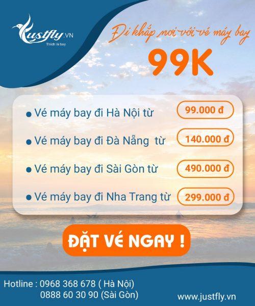 Mua vé máy bay giá rẻ tại Justfly.vn