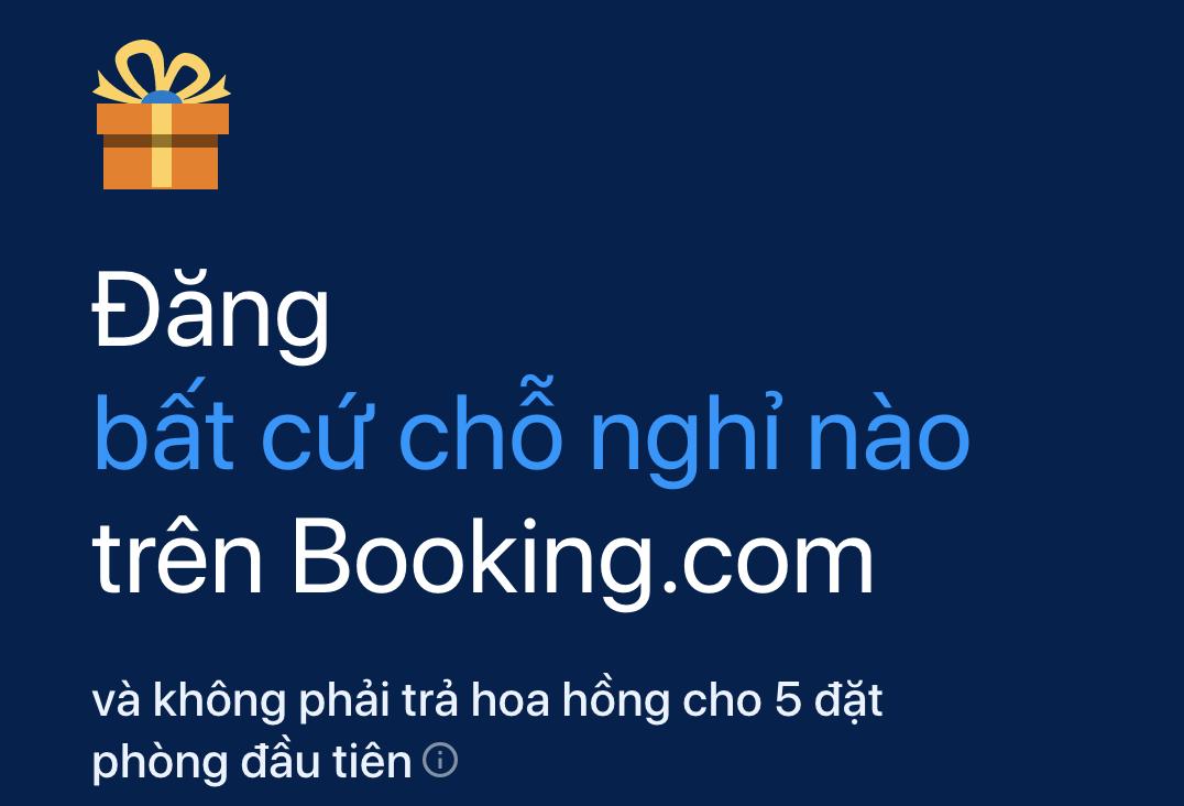Đăng ký bán phòng booking.com  - Kinh nghiệm vận hành tốt trên Airbnb và kinh doanh homestay hiệu quả