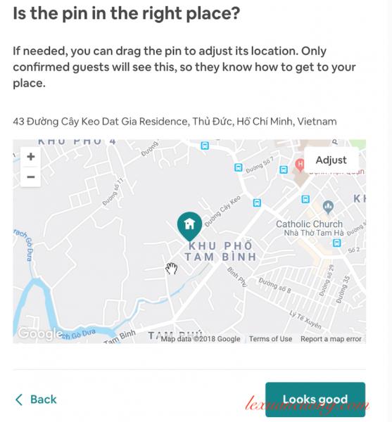 Kéo lại đúng vị trí phòng cho thuê trên Airbnb 1 cách chính xác