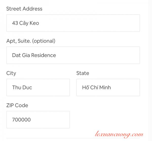 Nhập địa chỉ phòng cho thuê trên Airbnb 1 cách chính xác