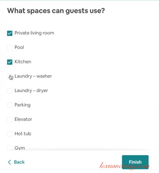 Những tiện ích mà khách được sử dụng