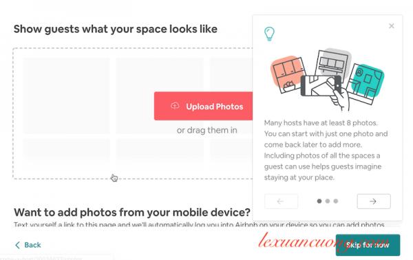 Thêm hình ảnh phòng của bạn lên Airbnb