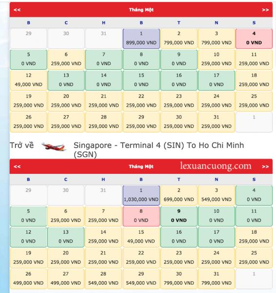 Hướng dẫn đặt vé máy bay giá rẻ 0đ Vietjet Air 2