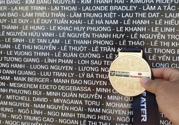 Medal đẹp của giải Techcombank Marathon.