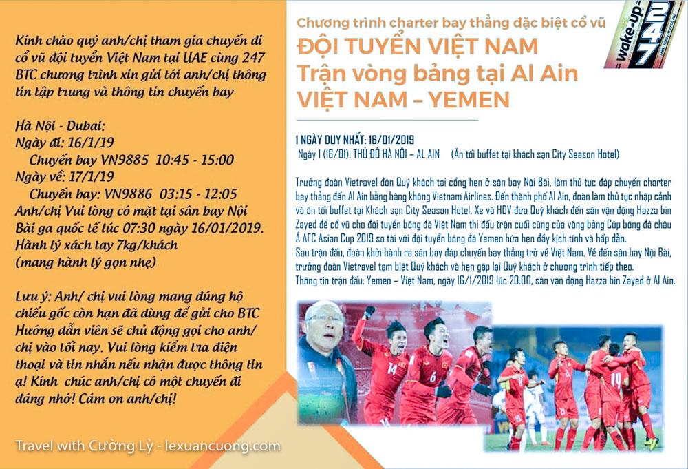 xem bong da uae tuyen viet nam 20 - Ký sự 30h: Đến UAE cổ vũ tuyển Việt Nam, 18 giờ bay và 90 phút cháy hết mình!