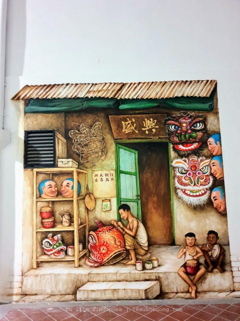Những bức tranh tường đẹp mặt được vẽ ở 1 số con đường Chinatown