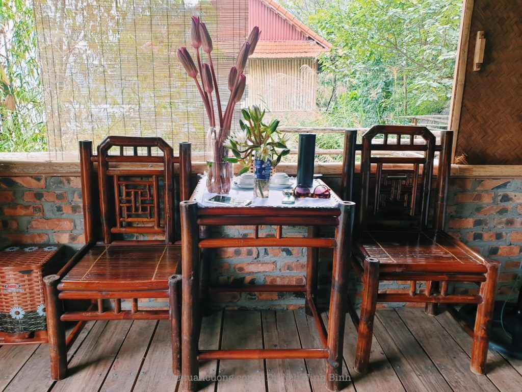 Nice bamboo furniture.