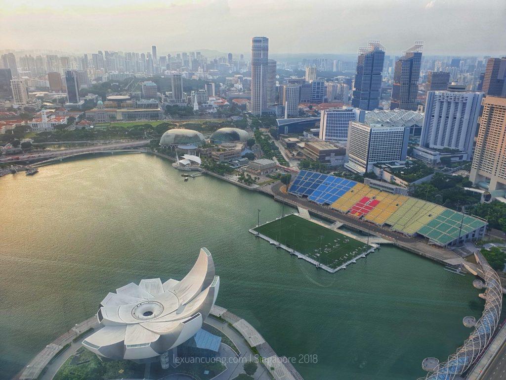 Marina Bay từ Skypark.