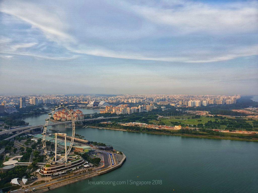 Thành phố Singapore xinh đẹp từ trên cao