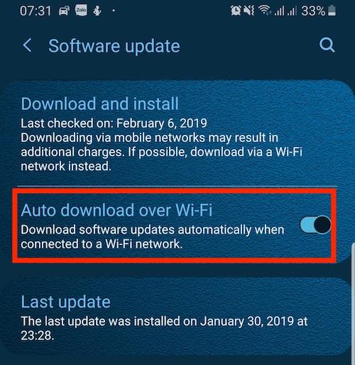 Nhớ tắt việc cập nhật phần mềm trên điện thoại nhé.