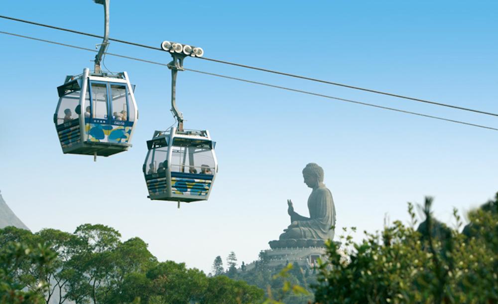 Cáp treo đến Big Buddha Ngong Ping.